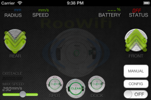 iPhone 4S Driver Screen : RooWifi, Wi-Fi Remote for Roomba