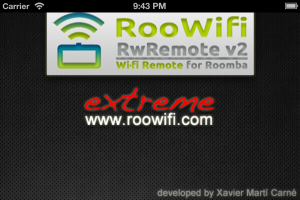 iPhone 4S Splash Screen : RooWifi, Wi-Fi Remote for Roomba