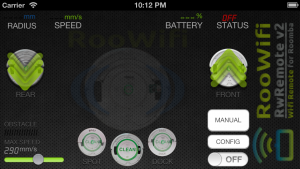 iPhone Wi-Fi Remote for Roomba : Driver Screen