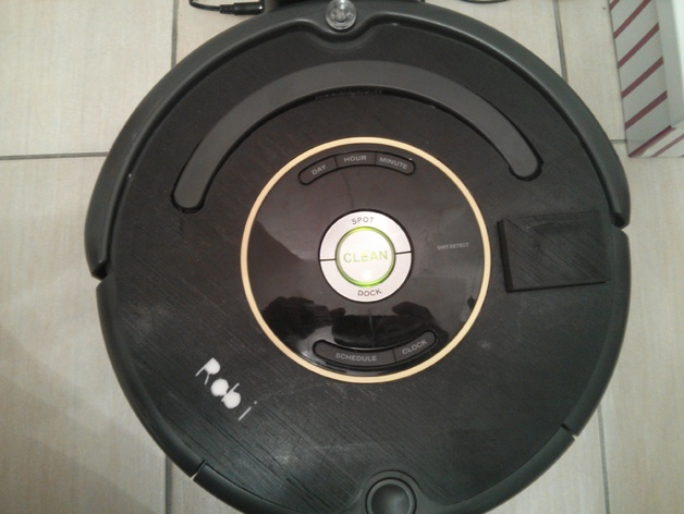 3D cover plate for Roomba with RooWifi WiFi adapter